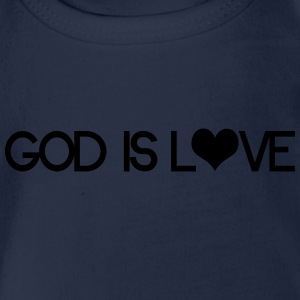 God is love Shirts - Organic Short-sleeved Baby Bodysuit