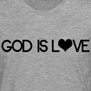 God is love Camisetas - Camiseta de manga larga premium hombre