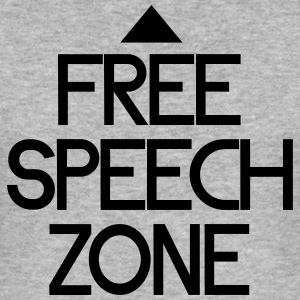 free speech zone Sweatshirts - Herre Slim Fit T-Shirt