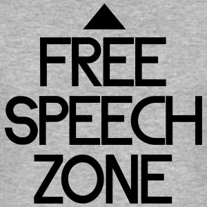 free speech zone Tröjor - Slim Fit T-shirt herr