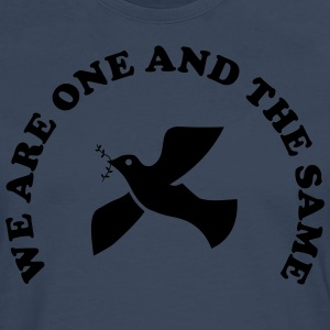 We are one and the same T-shirts - Herre premium T-shirt med lange ærmer