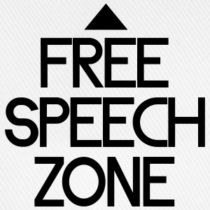 free speech zone Bottoni & spille - Cappello con visiera