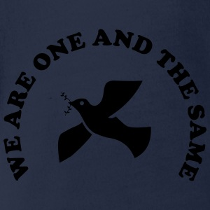 We are one and the same Shirts - Baby bio-rompertje met korte mouwen