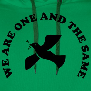 We are one and the same T-shirts - Herre Premium hættetrøje