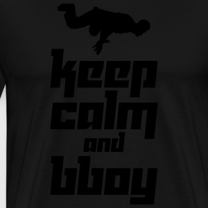 Keep Calm and Bboy (Vector) - Men's Premium T-Shirt