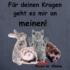 No Fur - kein Pelz! T-Shirts - Schultertasche aus Recycling-Material