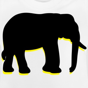 Een grote olifant met trunk Shirts - Baby T-shirt
