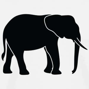 A big elephant with trunk Mugs & Drinkware - Men's Premium T-Shirt