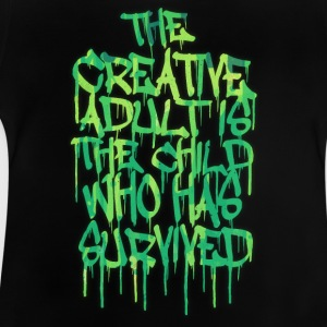 The Creative Adult is the Child Who Has Survived Manches longues - T-shirt Bébé
