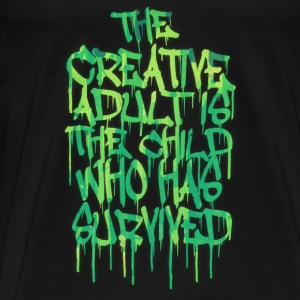 The Creative Adult is the Child Who Has Survived Langarmshirts - Männer Premium T-Shirt