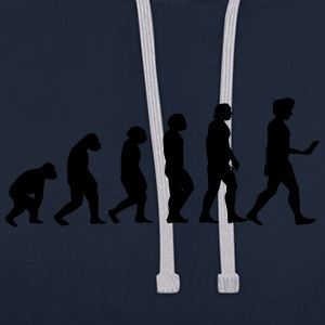 evolution men smartphone evolución ape T-shirts - Contrast hoodie