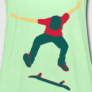 Skateboarder Kickflip in Action Longboarder Pullover & Hoodies - Frauen Tank Top von Bella
