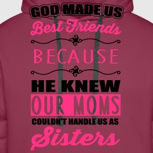 God made us best friends - BFF T-shirts - Premiumluvtröja herr