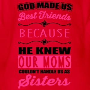 God made us best friends - BFF Shirts - Baby bio-rompertje met korte mouwen