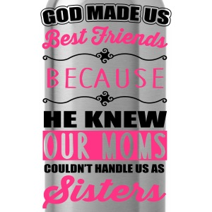 God made us best friends - BFF Shirts met lange mouwen - Drinkfles
