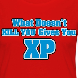 What doesn't kill you gives you XP Paidat - Naisten premium pitkähihainen t-paita