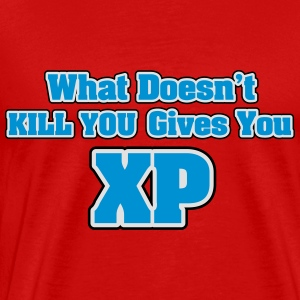 What doesn't kill you gives you XP Topper - Premium T-skjorte for menn