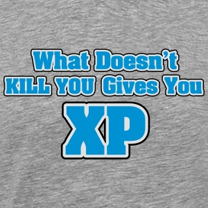 What doesn't kill you gives you XP Tank Tops - Herre premium T-shirt