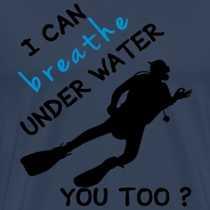 I can breathe under water Langarmshirts - Männer Premium T-Shirt