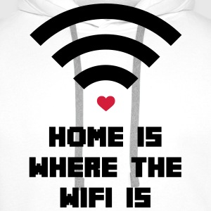 Home Where WiFi Is  Camisetas - Sudadera con capucha premium para hombre