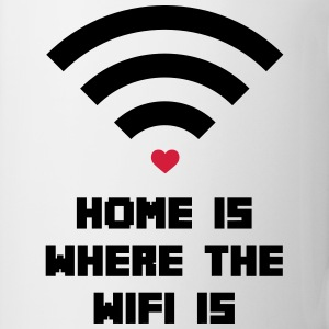 Home Where WiFi Is  T-shirts - Mok