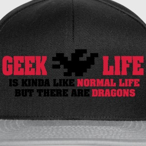 Geek life - there are dragons Toppar - Snapbackkeps