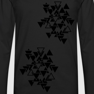 Triangles graphic pattern Tops - Men's Premium Longsleeve Shirt
