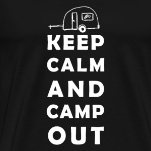 keep calm camping Manches longues - T-shirt Premium Homme