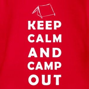 keep calm camping Shirts - Organic Short-sleeved Baby Bodysuit