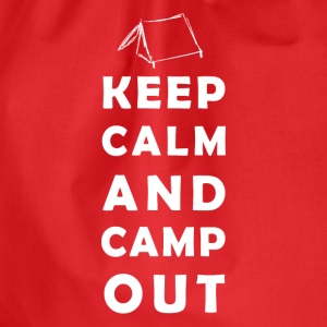 keep calm camping T-shirts - Sportstaske
