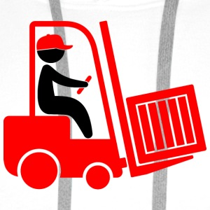 A forklift transporting a box Tank Tops - Men's Premium Hoodie
