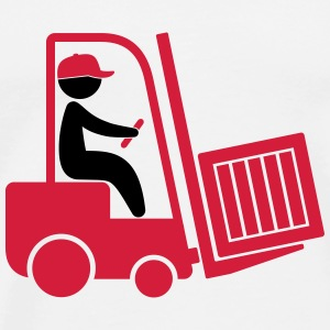 A forklift transporting a box Tops - Men's Premium T-Shirt