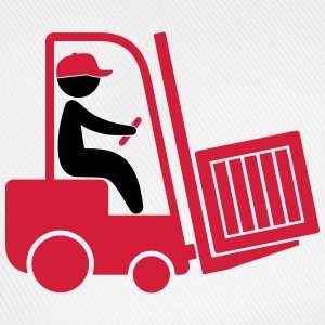 A forklift transporting a box T-Shirts - Baseball Cap