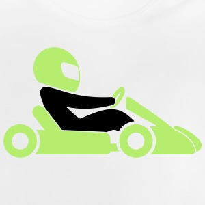 A racer with helmet and car Shirts - Baby T-Shirt