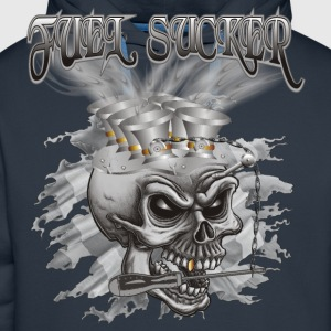 Fuel Sucker Racing Skull T-Shirts - Männer Premium Hoodie