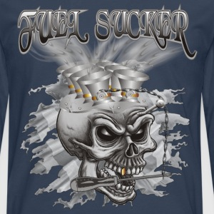 Fuel Sucker Racing Skull T-Shirts - Männer Premium Langarmshirt