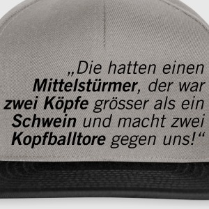Fussball Fan Shirt - schwein - hans meyer T-Shirts - Snapback Cap