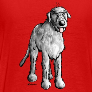 Drôle Irish Wolfhound Manches longues - T-shirt Premium Homme