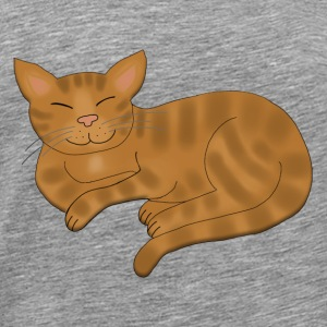 Cat Brown tabby Sweatshirts - Herre premium T-shirt