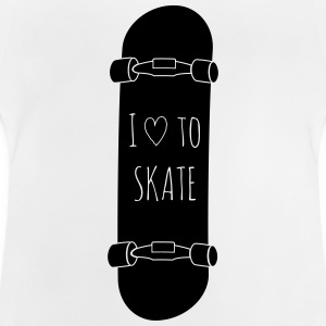 I love to skate jeg elsker at skate T-shirts - Baby T-shirt