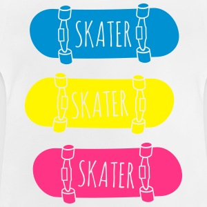 Skater Skateboards patinador skateboards Camisetas - Camiseta bebé