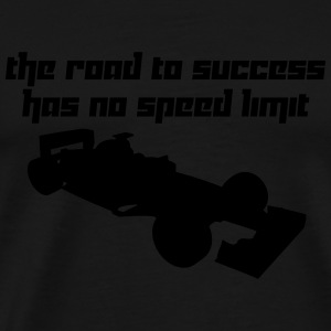 The road to success has no speed limit (Vector) - Männer Premium T-Shirt