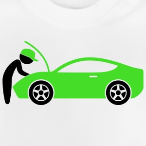 A mechanic repairing a car Shirts - Baby T-Shirt