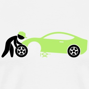 A mechanic repairing a car Hoodies & Sweatshirts - Men's Premium T-Shirt