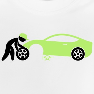 A mechanic repairing a car Long Sleeve Shirts - Baby T-Shirt