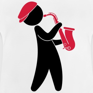 A jazz musician playing on the saxophone Long Sleeve Shirts - Baby T-Shirt