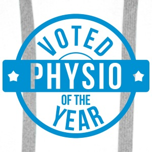 Voted Physio  of the Year Mugs & Drinkware - Men's Premium Hoodie