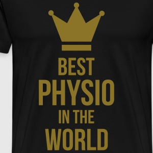 Best Physio in the world  Aprons - Men's Premium T-Shirt
