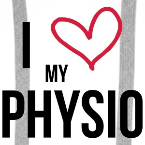 I Love my Physio Mugs & Drinkware - Men's Premium Hoodie