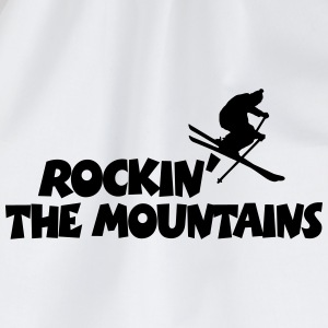 Rockin' The Mountains Après-Ski Design Caps & Hats - Drawstring Bag